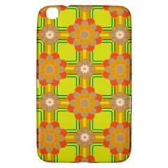 Floral Pattern Wallpaper Background Beautiful Colorful Samsung Galaxy Tab 3 (8 ) T3100 Hardshell Case