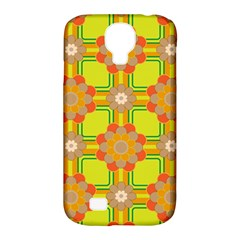 Floral Pattern Wallpaper Background Beautiful Colorful Samsung Galaxy S4 Classic Hardshell Case (PC+Silicone)