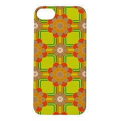 Floral Pattern Wallpaper Background Beautiful Colorful Apple iPhone 5S/ SE Hardshell Case