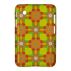 Floral Pattern Wallpaper Background Beautiful Colorful Samsung Galaxy Tab 2 (7 ) P3100 Hardshell Case