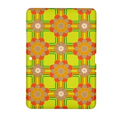 Floral Pattern Wallpaper Background Beautiful Colorful Samsung Galaxy Tab 2 (10.1 ) P5100 Hardshell Case