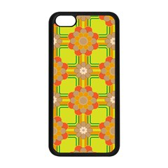 Floral Pattern Wallpaper Background Beautiful Colorful Apple iPhone 5C Seamless Case (Black)
