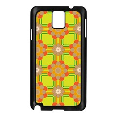 Floral Pattern Wallpaper Background Beautiful Colorful Samsung Galaxy Note 3 N9005 Case (Black)