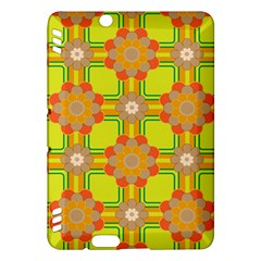 Floral Pattern Wallpaper Background Beautiful Colorful Kindle Fire HDX Hardshell Case