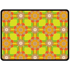 Floral Pattern Wallpaper Background Beautiful Colorful Double Sided Fleece Blanket (large)