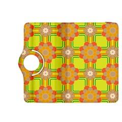 Floral Pattern Wallpaper Background Beautiful Colorful Kindle Fire HDX 8.9  Flip 360 Case
