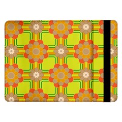 Floral Pattern Wallpaper Background Beautiful Colorful Samsung Galaxy Tab Pro 12.2  Flip Case