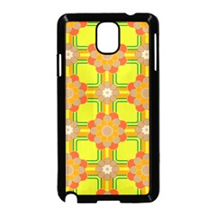 Floral Pattern Wallpaper Background Beautiful Colorful Samsung Galaxy Note 3 Neo Hardshell Case (Black)