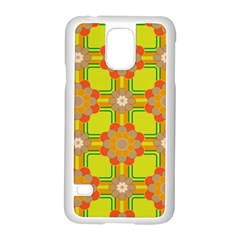 Floral Pattern Wallpaper Background Beautiful Colorful Samsung Galaxy S5 Case (White)