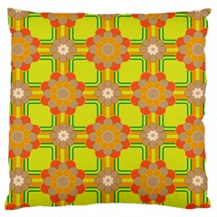 Floral Pattern Wallpaper Background Beautiful Colorful Large Flano Cushion Case (One Side)