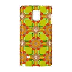 Floral Pattern Wallpaper Background Beautiful Colorful Samsung Galaxy Note 4 Hardshell Case