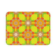 Floral Pattern Wallpaper Background Beautiful Colorful Double Sided Flano Blanket (mini)
