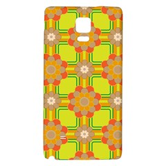 Floral Pattern Wallpaper Background Beautiful Colorful Galaxy Note 4 Back Case