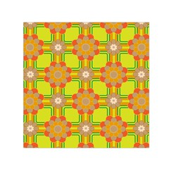 Floral Pattern Wallpaper Background Beautiful Colorful Small Satin Scarf (square)