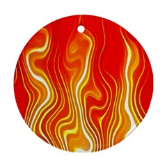 Fire Flames Abstract Background Ornament (Round)