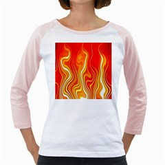 Fire Flames Abstract Background Girly Raglans
