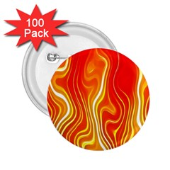 Fire Flames Abstract Background 2.25  Buttons (100 pack)