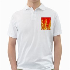 Fire Flames Abstract Background Golf Shirts
