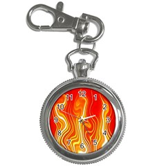 Fire Flames Abstract Background Key Chain Watches