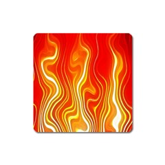 Fire Flames Abstract Background Square Magnet