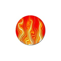 Fire Flames Abstract Background Golf Ball Marker (4 Pack)