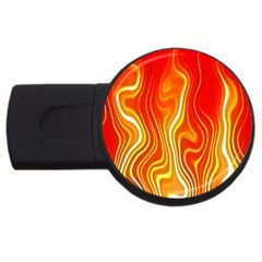 Fire Flames Abstract Background USB Flash Drive Round (2 GB)