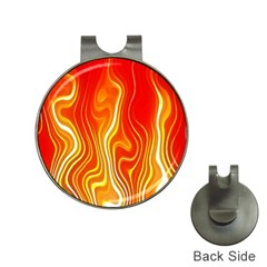 Fire Flames Abstract Background Hat Clips With Golf Markers