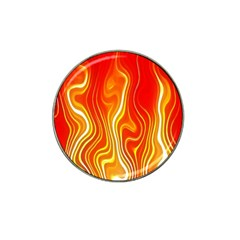 Fire Flames Abstract Background Hat Clip Ball Marker (4 pack)