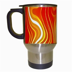 Fire Flames Abstract Background Travel Mugs (White)