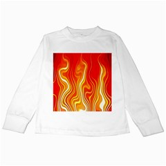 Fire Flames Abstract Background Kids Long Sleeve T-Shirts