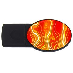 Fire Flames Abstract Background Usb Flash Drive Oval (4 Gb)