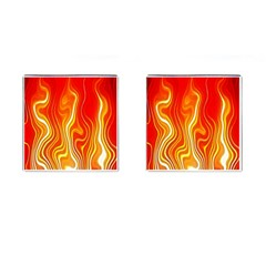 Fire Flames Abstract Background Cufflinks (square)