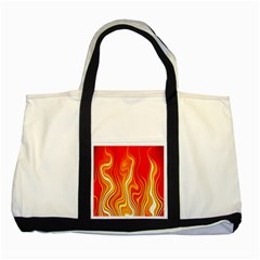 Fire Flames Abstract Background Two Tone Tote Bag