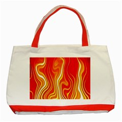Fire Flames Abstract Background Classic Tote Bag (Red)