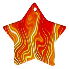 Fire Flames Abstract Background Star Ornament (two Sides)