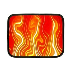 Fire Flames Abstract Background Netbook Case (small)