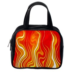 Fire Flames Abstract Background Classic Handbags (one Side)