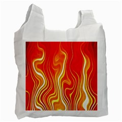 Fire Flames Abstract Background Recycle Bag (One Side)