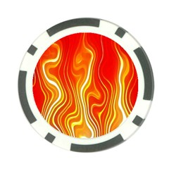 Fire Flames Abstract Background Poker Chip Card Guard (10 Pack)