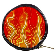 Fire Flames Abstract Background Mini Makeup Bags