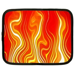 Fire Flames Abstract Background Netbook Case (xxl)