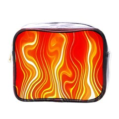Fire Flames Abstract Background Mini Toiletries Bags