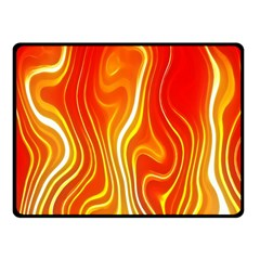 Fire Flames Abstract Background Fleece Blanket (small)