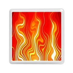 Fire Flames Abstract Background Memory Card Reader (square)