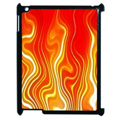 Fire Flames Abstract Background Apple iPad 2 Case (Black)