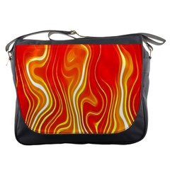 Fire Flames Abstract Background Messenger Bags