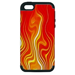Fire Flames Abstract Background Apple iPhone 5 Hardshell Case (PC+Silicone)