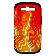 Fire Flames Abstract Background Samsung Galaxy S III Hardshell Case (PC+Silicone)