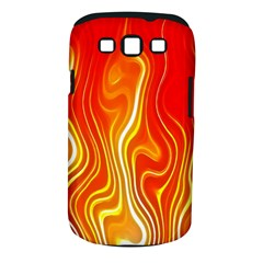 Fire Flames Abstract Background Samsung Galaxy S III Classic Hardshell Case (PC+Silicone)