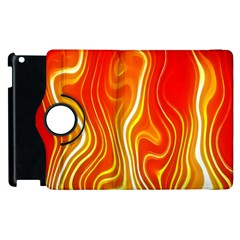 Fire Flames Abstract Background Apple iPad 2 Flip 360 Case
